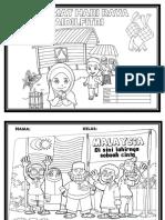 Selamat Hari Raya Coloring Paper
