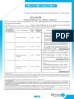 Fee Decleration Form
