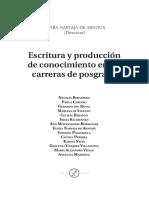 Escritura y Producción de Conocimiento en Las Carreras de Posgrados
