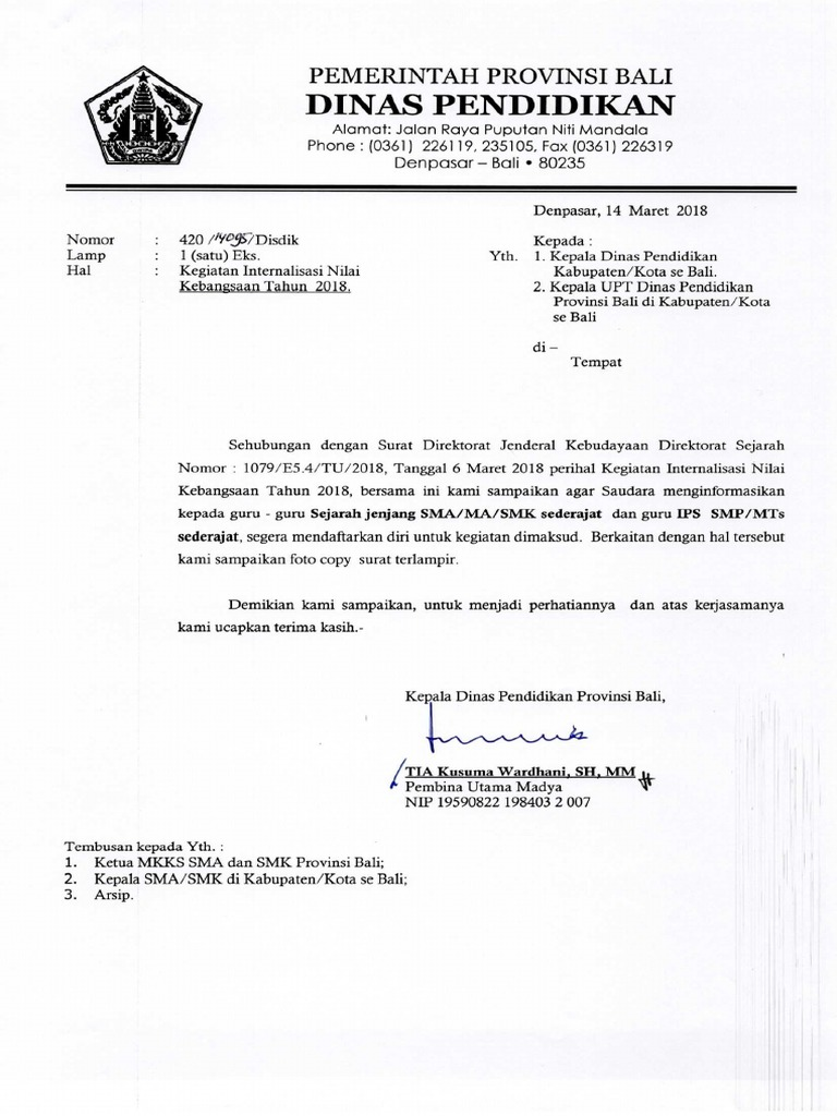 Kop Surat Dinas Pendidikan Provinsi Sumatera Selatan ...