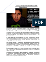 ANP exige que se reabra investigación del caso Julio Moisés Mesco