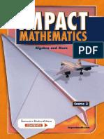 McGraw-Hill IMPACT Mathematics Algebra and More, Course 3, Student Edition 2004