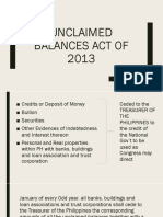 Unclaimed Balances Act of 2013