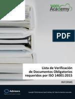 Checklist of ISO 14001 2015 Mandatory Documentation ES