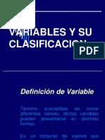 Variables y Su Clasificación