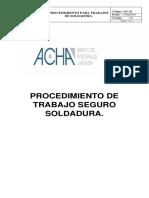 Procedimiento de Trabajo Seguro Soldadura