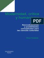 Kozlarek, Oliver - Modernidad, Critica y Humanismo