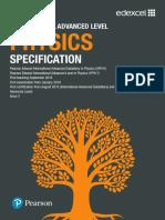 International AL Physics Specification