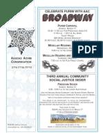 Agudas Achim Congregation March 2019 Bulletin