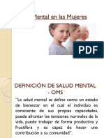 Salud Mental en Las Mujeres