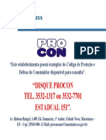 Placa Procon Marataízes