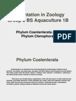 Phylum Coenlenterata and Phylum Ctenophora