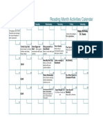march reading month calendar