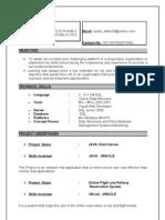 Resume Sushil Kumar