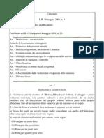 Legge Regionale CAMPANIA 10 maggio 2001, n. 5