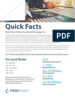 Quick Facts about Primary Residential Mortgage, Inc.