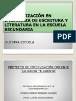 Especialización en Enseñanza de Escritura y Literatura En
