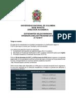 Estudiantes Seleccionados Intensive 2018-1