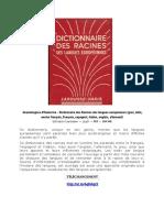Grandaisgnes d'Hauterive - Dictionnaire des Racines des langues européennes