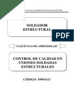 Control de Calidad de Uniones Soldadas Estructurales