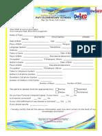 Pupil_s Profile Form
