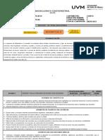 Planeación Didáctica Argumentada Matemáticas IV