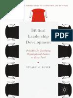 (Christian Faith Perspectives in Leadership and Business) Stuart W. Boyer - Biblical Leadership Development-Springer International Publishing,Palgrave Macmillan (2019)