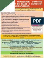 Nuevo Curso Del Analizador Bioenergético y Cuantico de Salud y Nutricion, Version 2019