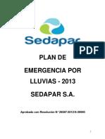 plan de emergencias contra lluvias