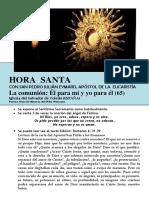 La Comunión, Él Para Mí y Yo Para Él (65) HORA SANTA Con San Pedro Julián Eymard.