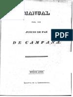 Manual Jueces de Campaña, 1825