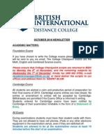 October 2010 Newsletter