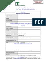 KQ Scholarships Nomination Form 2019