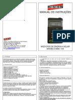 Manual medidor de radiação solar