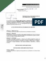 PL 3940 - Proyecto de Ley de protección de los animales de compañía