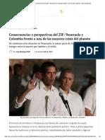 Consecuencias y Perspectivas Del 23F_ Venezuela y Colombia Frente a Una de Las Mayores Crisis Del Planeta