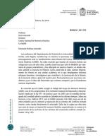 Carta de profesores del departamento de Historia de la Universidad Nacional a Darío Acevedo