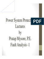 Power System Protection Lectures- Fault Analysis-1