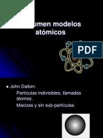 Resumen modelos atómicos