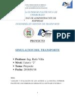 Proyecto Simulación de Transporte