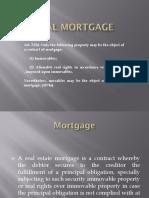 Credit Transaction Real Mortgage