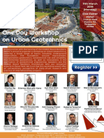 GeoSS One Day Workshop on Urban Geotechnics v2