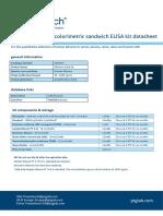 Human Albumin ELISA Kit KE00076 Datasheet