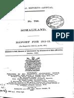 Somaliland Report 1911 - 1912