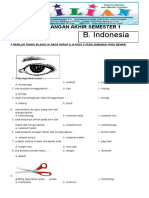 Soal UAS Bahasa Indonesia Kelas 1 SD Semester 1 (Ganjil) Dan Kunci Jawaban (Www.bimbelbrilian.com)