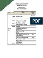 Itinerari Majlis Perasmian Penutup