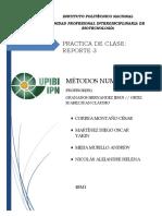 Reporte Metodos Numericos