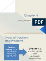 managerial decision types of decisions and problems
