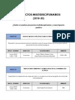 Proyectos Multidisciplinarios 20