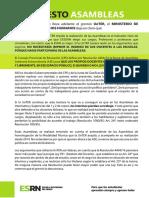 Manifiesto Asambleas ESRN